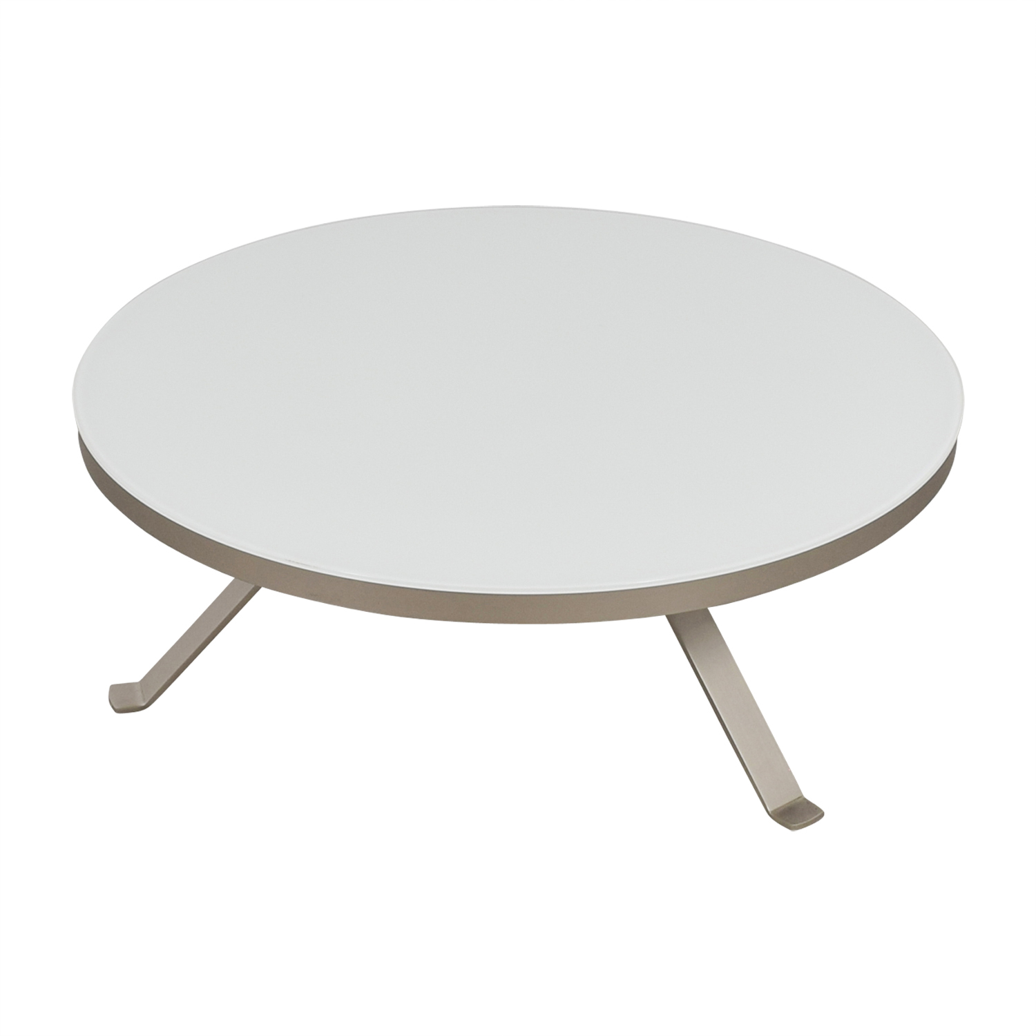 Bo Concept Bo Concept White Round Coffee Table nj