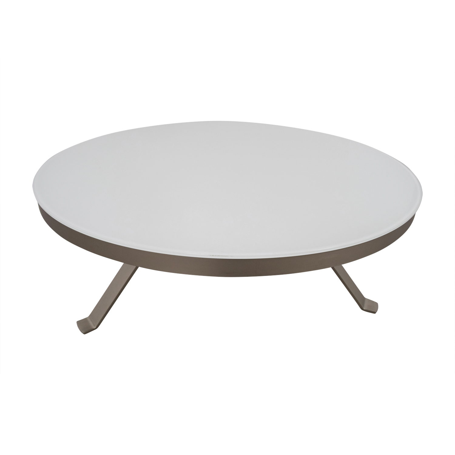 88 Off Bo Concept Bo Concept White Round Coffee Table Tables