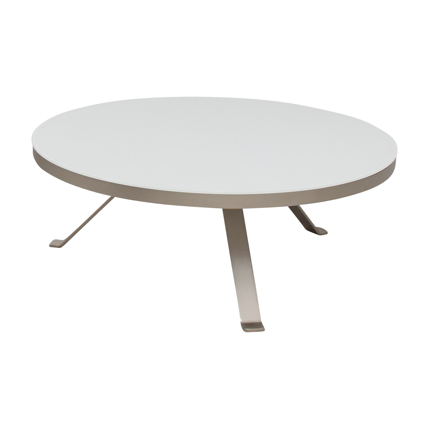 85 Off Bo Concept Bo Concept White Round Coffee Table Tables