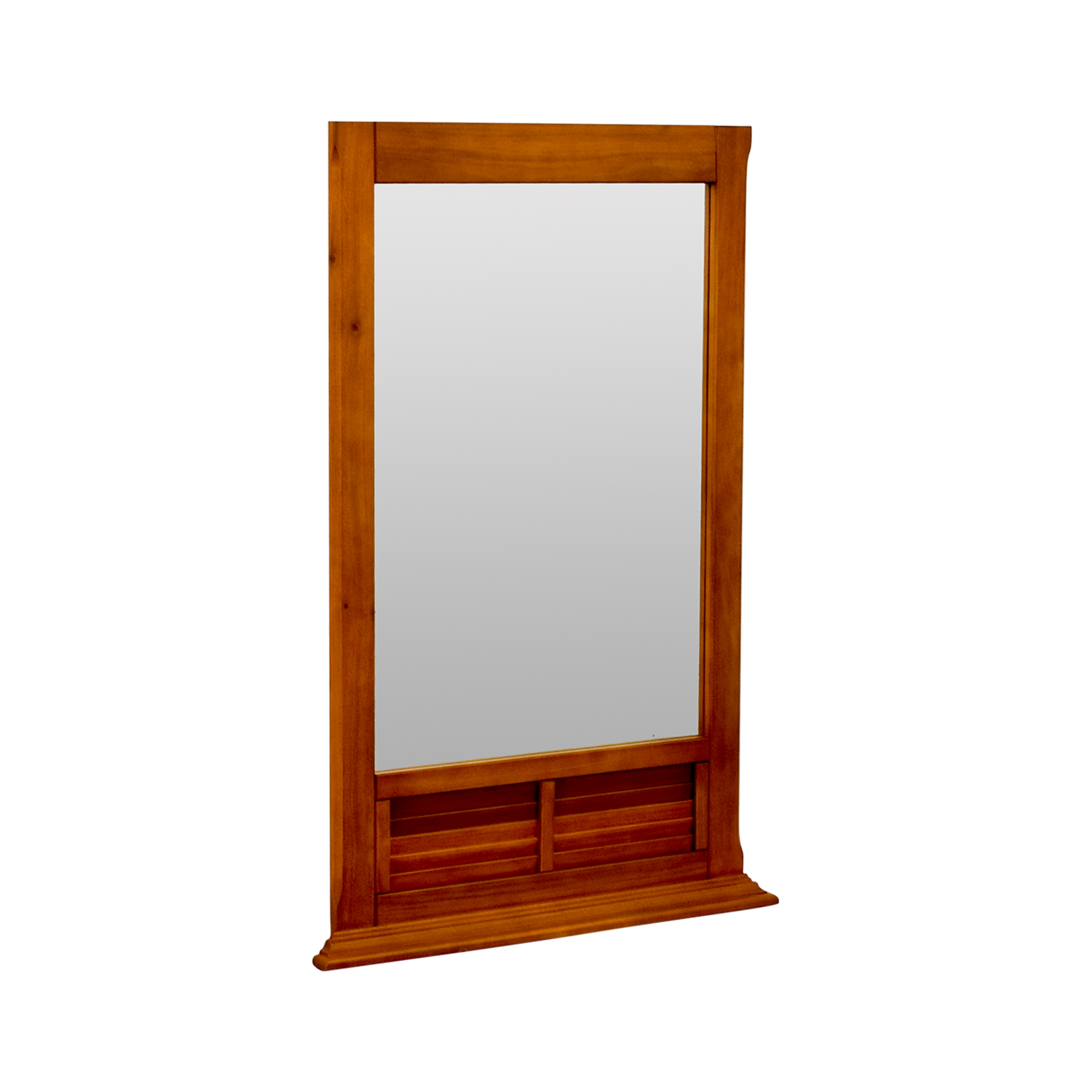 Natural Wood Window Pane Mirror for sale