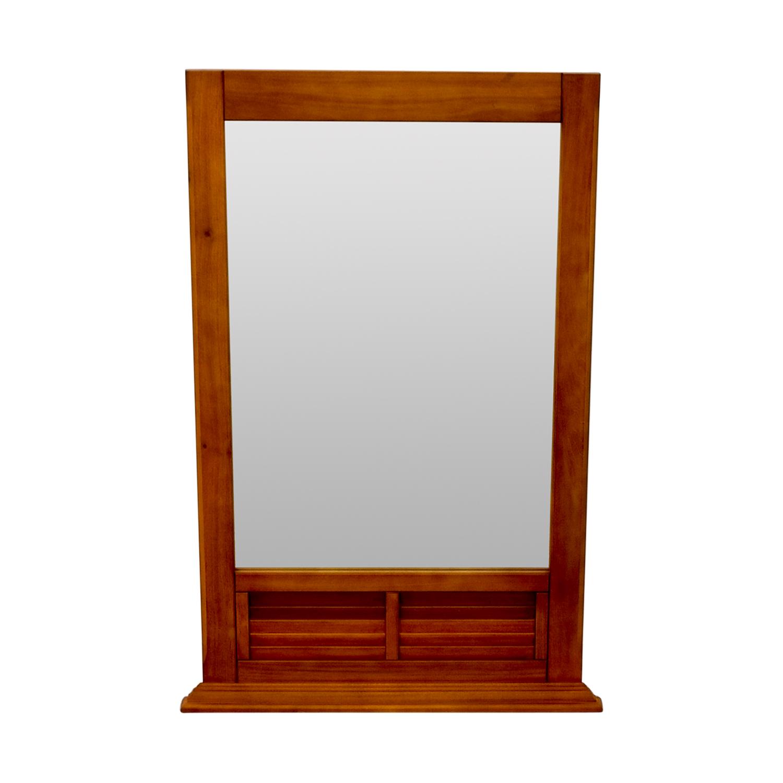 shop  Natural Wood Window Pane Mirror online