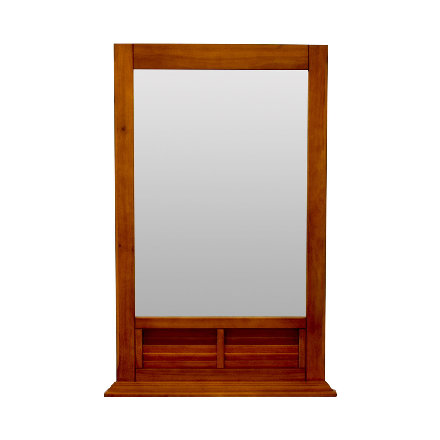 Natural Wood Window Pane Mirror second hand