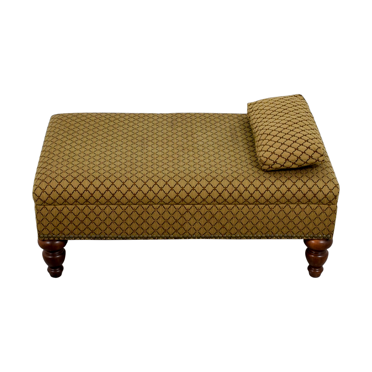 Custom Transitional Brown Ottoman sale