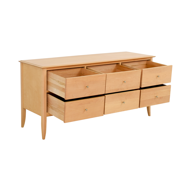 buy Crate & Barrel Six Drawer Dresser Crate & Barrel