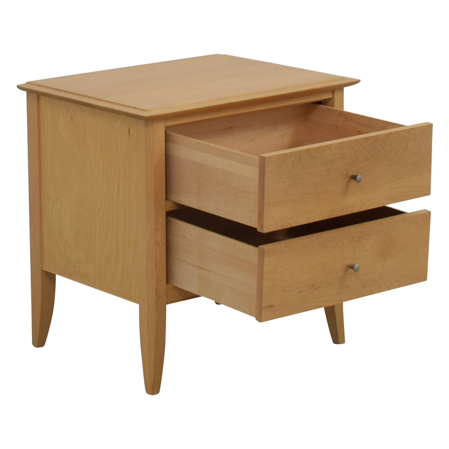 Crate & Barrel Crate & Barrel Natural Two-Drawer Side Table nyc