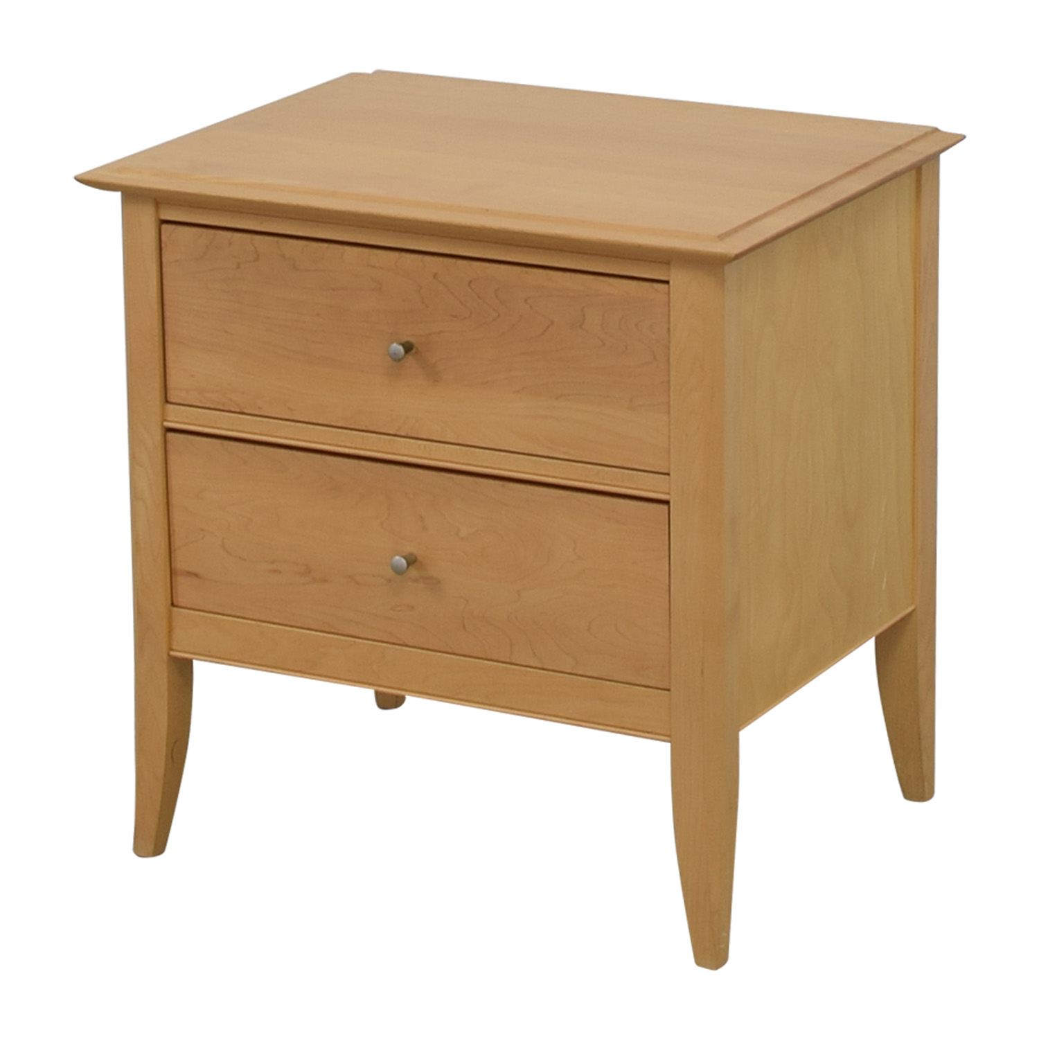 Crate & Barrel Crate & Barrel Natural Two-Drawer Side Table price