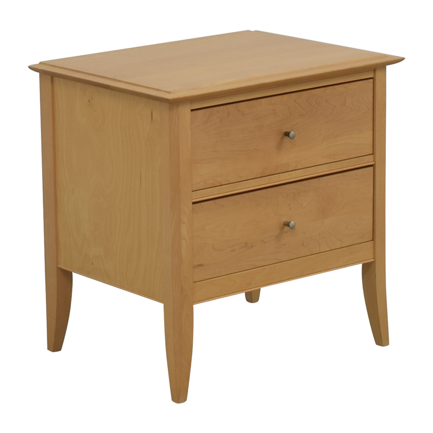 Crate & Barrel Natural Two-Drawer Side Table Crate & Barrel