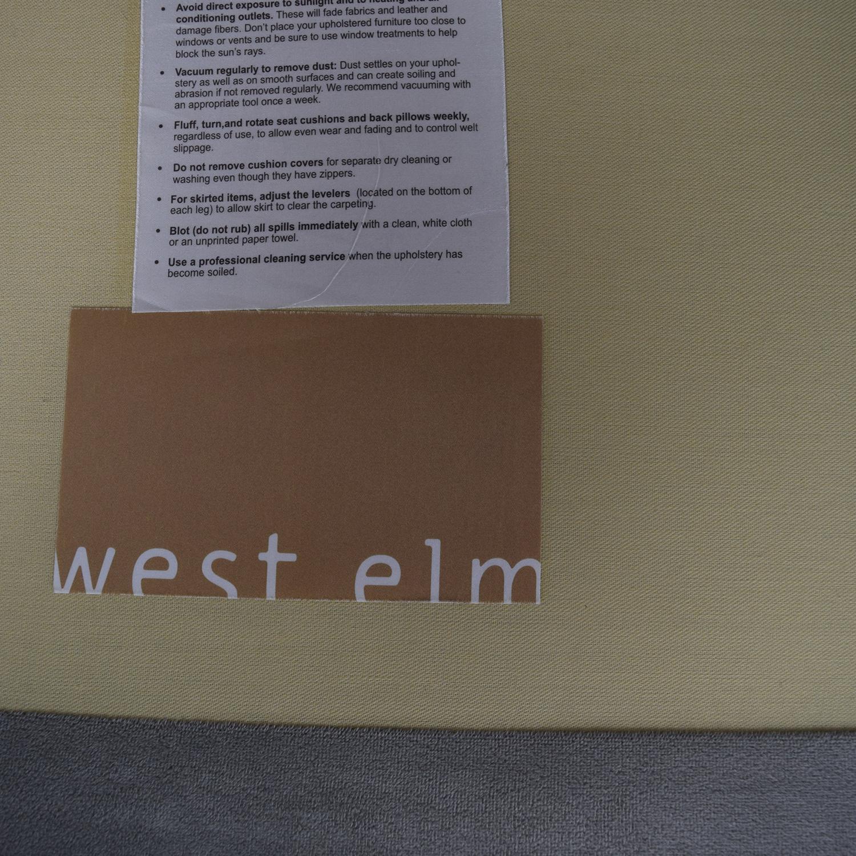 shop West Elm Henry Grey Sofa West Elm Classic Sofas