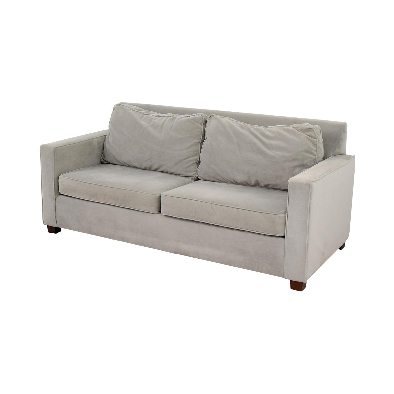 68 off west elm west elm henry grey sofa sofas. Black Bedroom Furniture Sets. Home Design Ideas