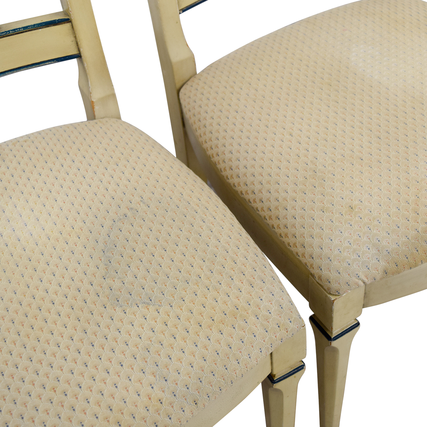 Vintage Tan Dining Chairs second hand