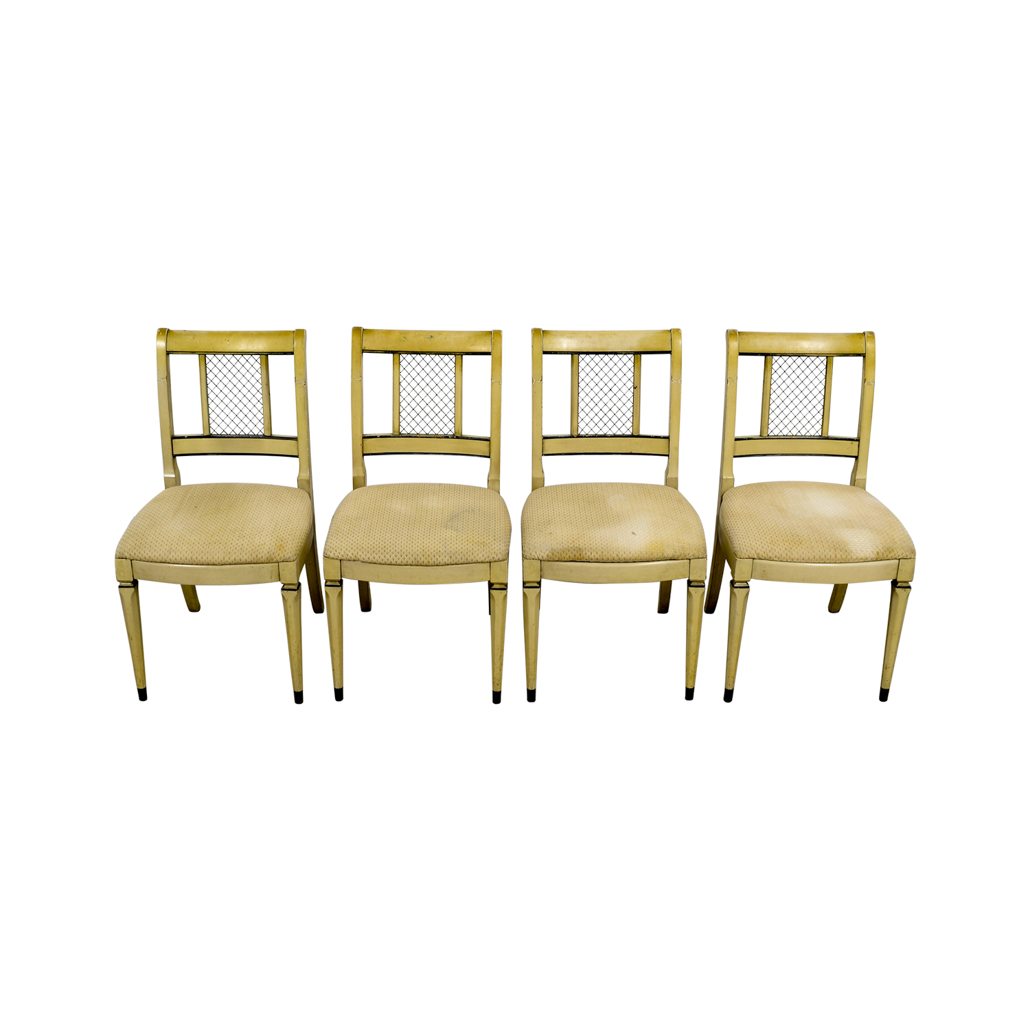Vintage Tan Dining Chairs
