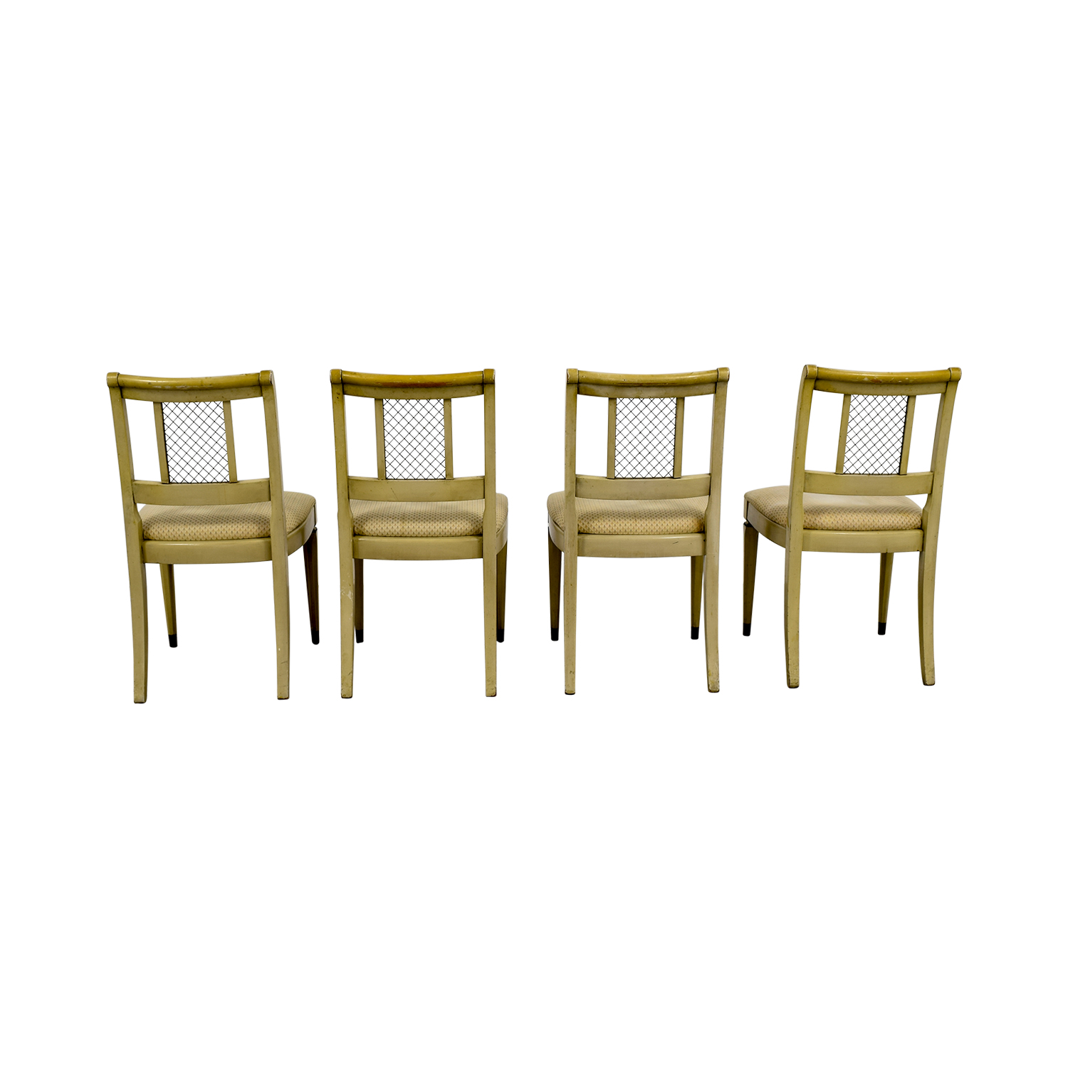 Vintage Tan Dining Chairs dimensions