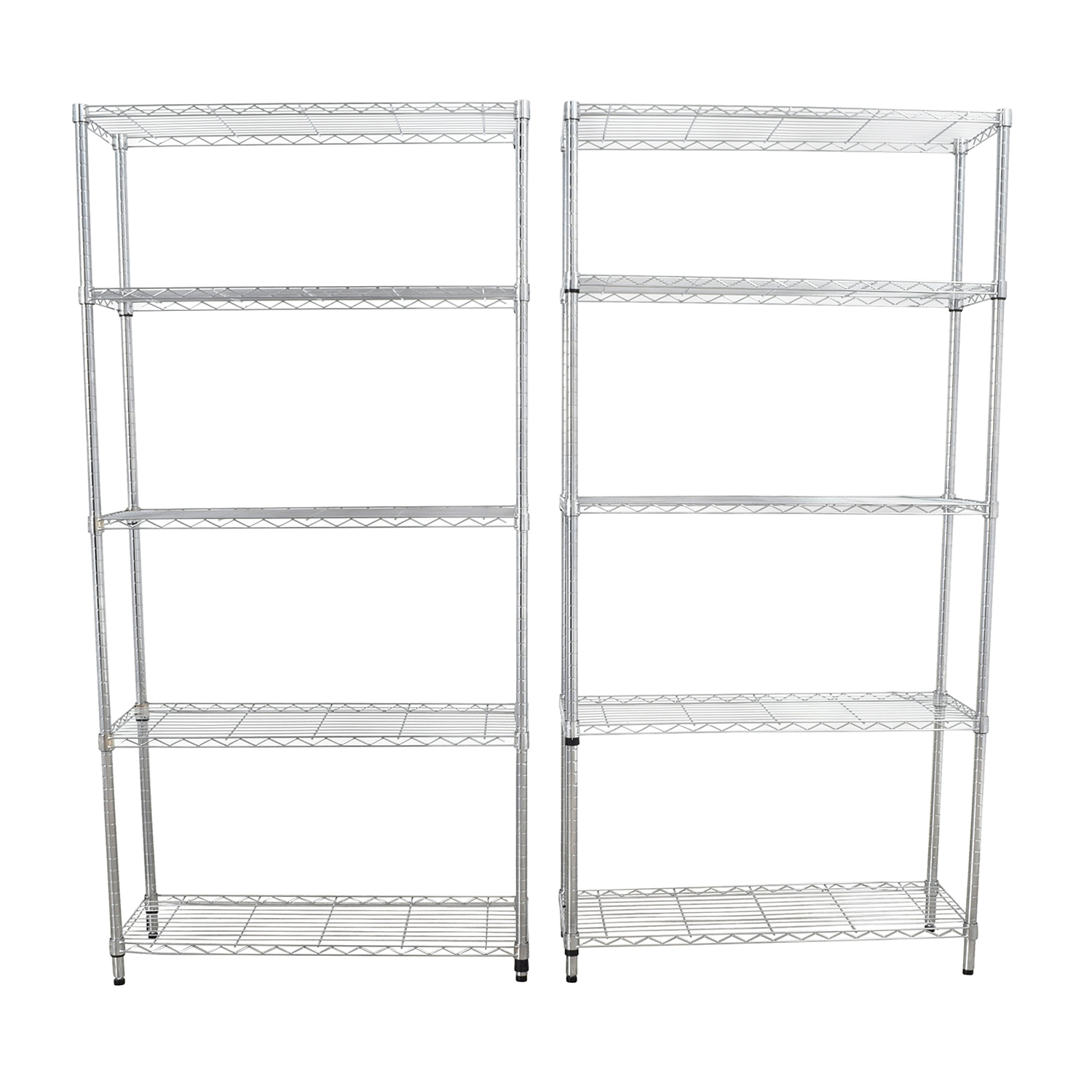 Home Depot Chrome Five-Shelf Units sale