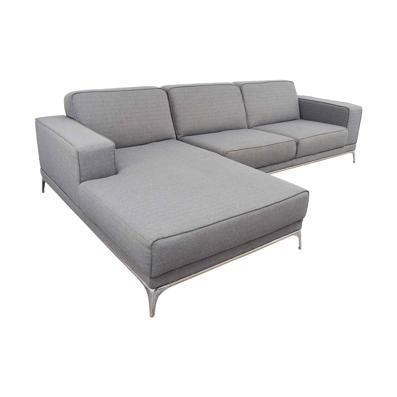 Agata Agata Light Grey Sectional grey