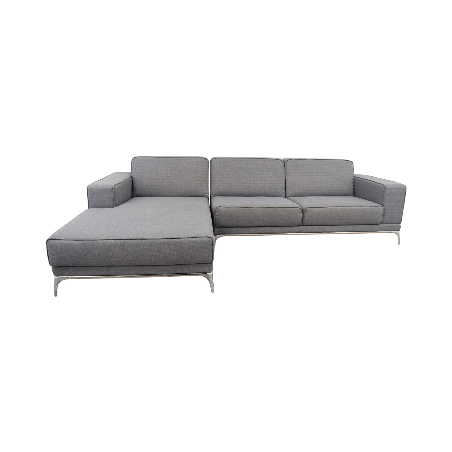 shop Agata Light Grey Sectional Agata Sectionals