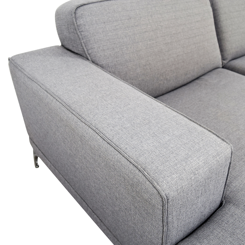 Pleasing 56 Off Agata Sa Agata Light Grey Sectional Sofas Beatyapartments Chair Design Images Beatyapartmentscom