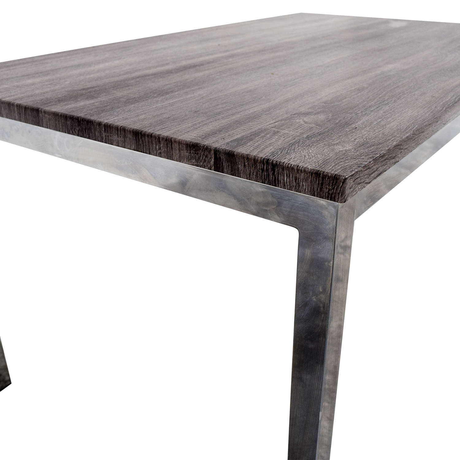 Wildon Home Wildon Home Rustic Wood Top and Chrome Dining Table Grey / Brown / Chrome