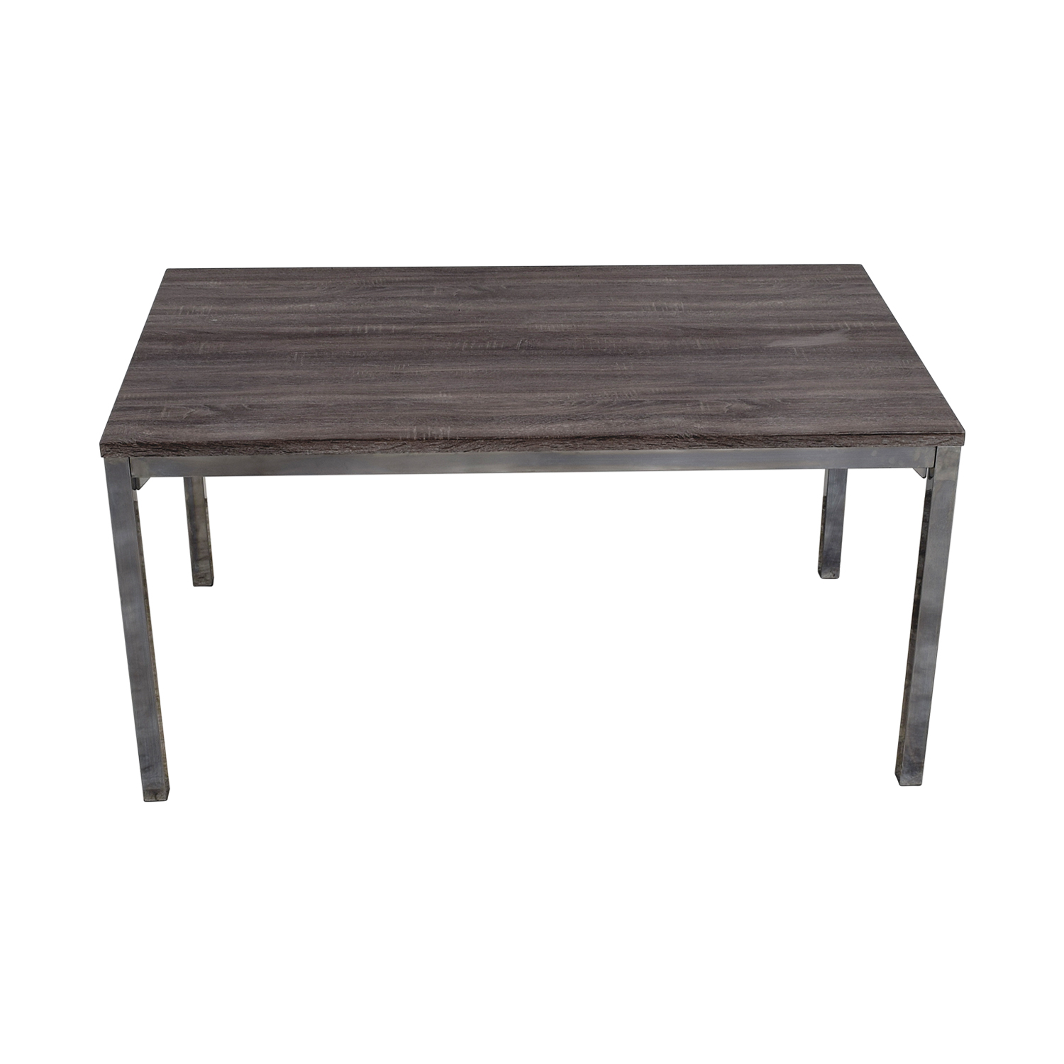 buy Wildon Home Rustic Wood Top and Chrome Dining Table Wildon Home Dinner Tables