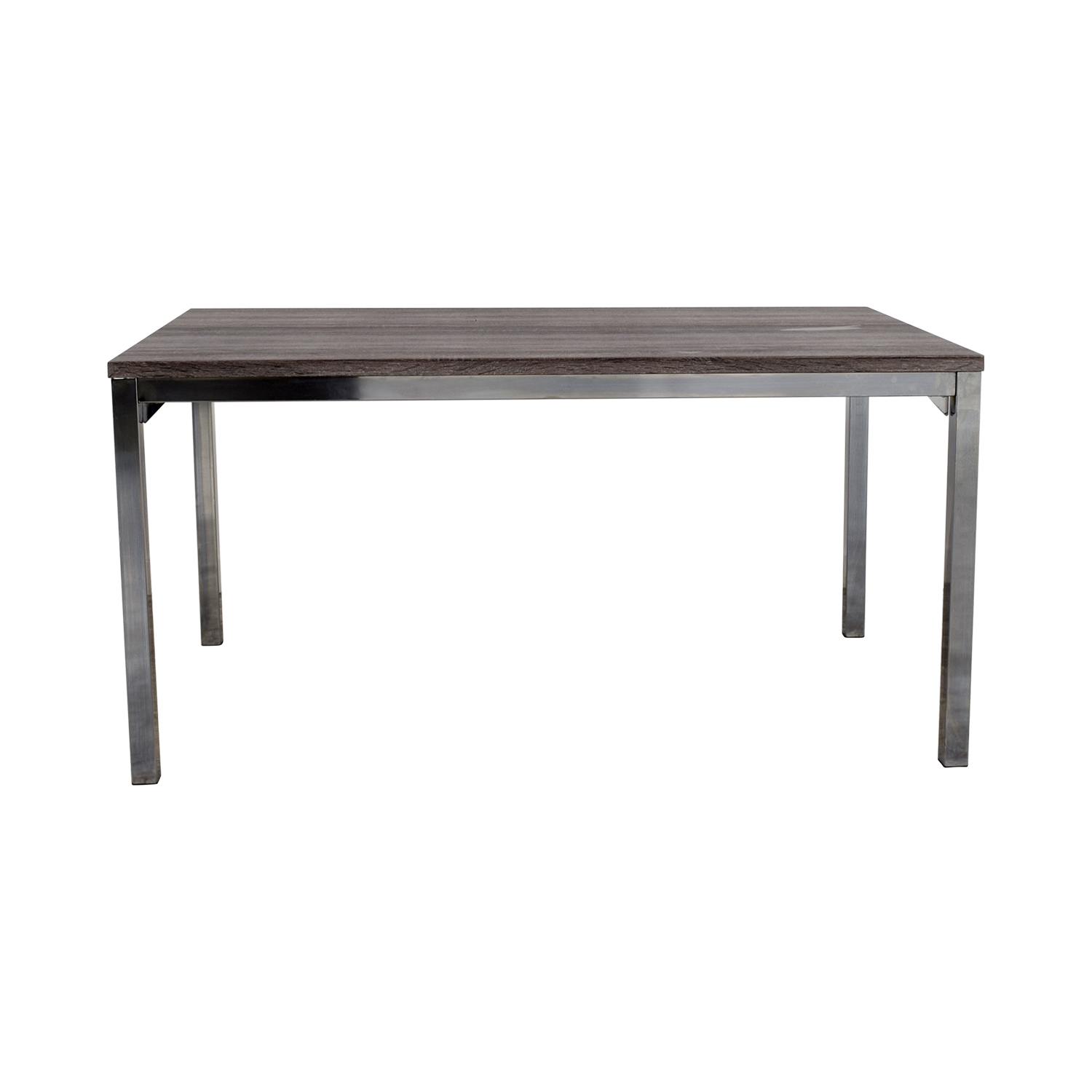 Wildon Home Wildon Home Rustic Wood Top and Chrome Dining Table Tables