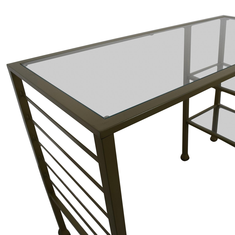 86 Off Wayfair Wayfair Gold Matte Writing Desk Tables