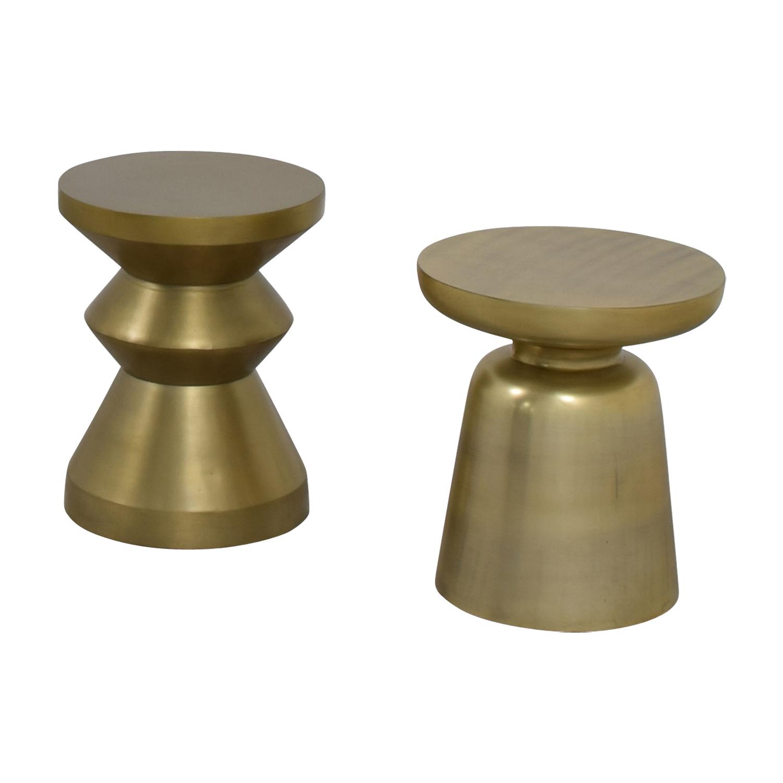 West Elm West Elm Gold Brushed Side Tables Accent Tables