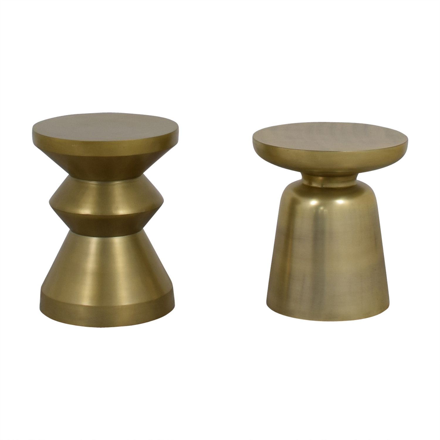 40 Off West Elm West Elm Gold Brushed Side Tables Tables
