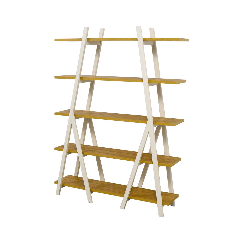 West Elm West Elm White Ladder Bookshelf Storage