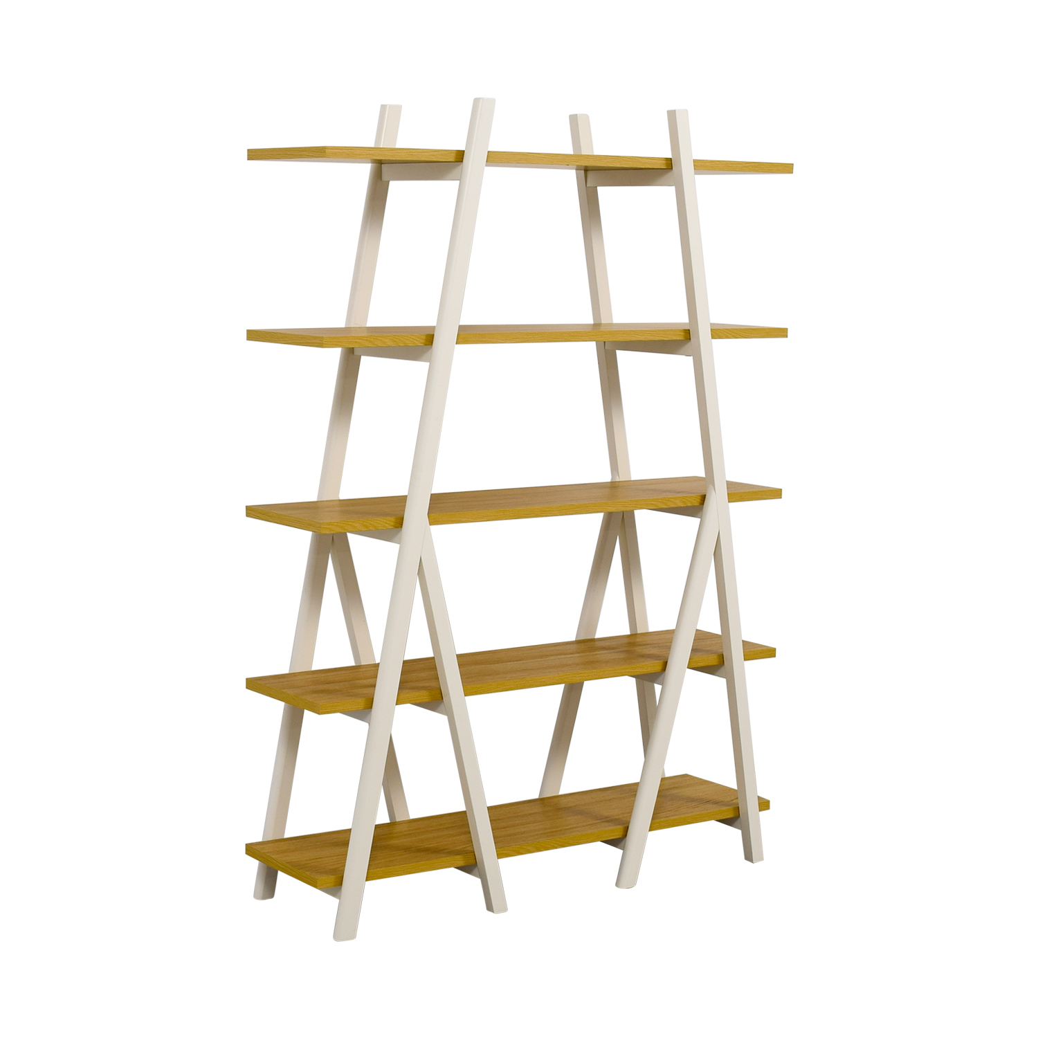 31 Off West Elm West Elm White Ladder Bookshelf Storage