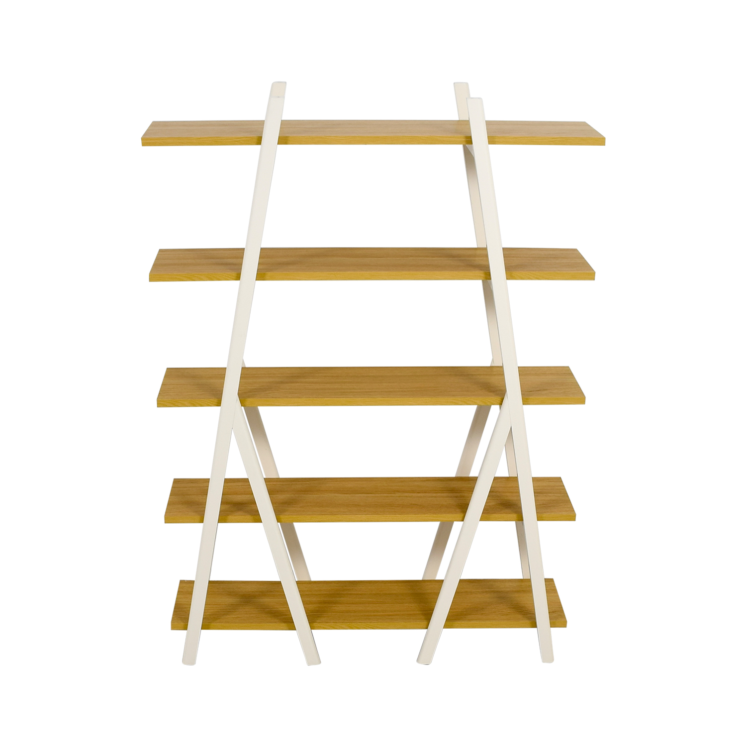 West Elm West Elm White Ladder Bookshelf second hand