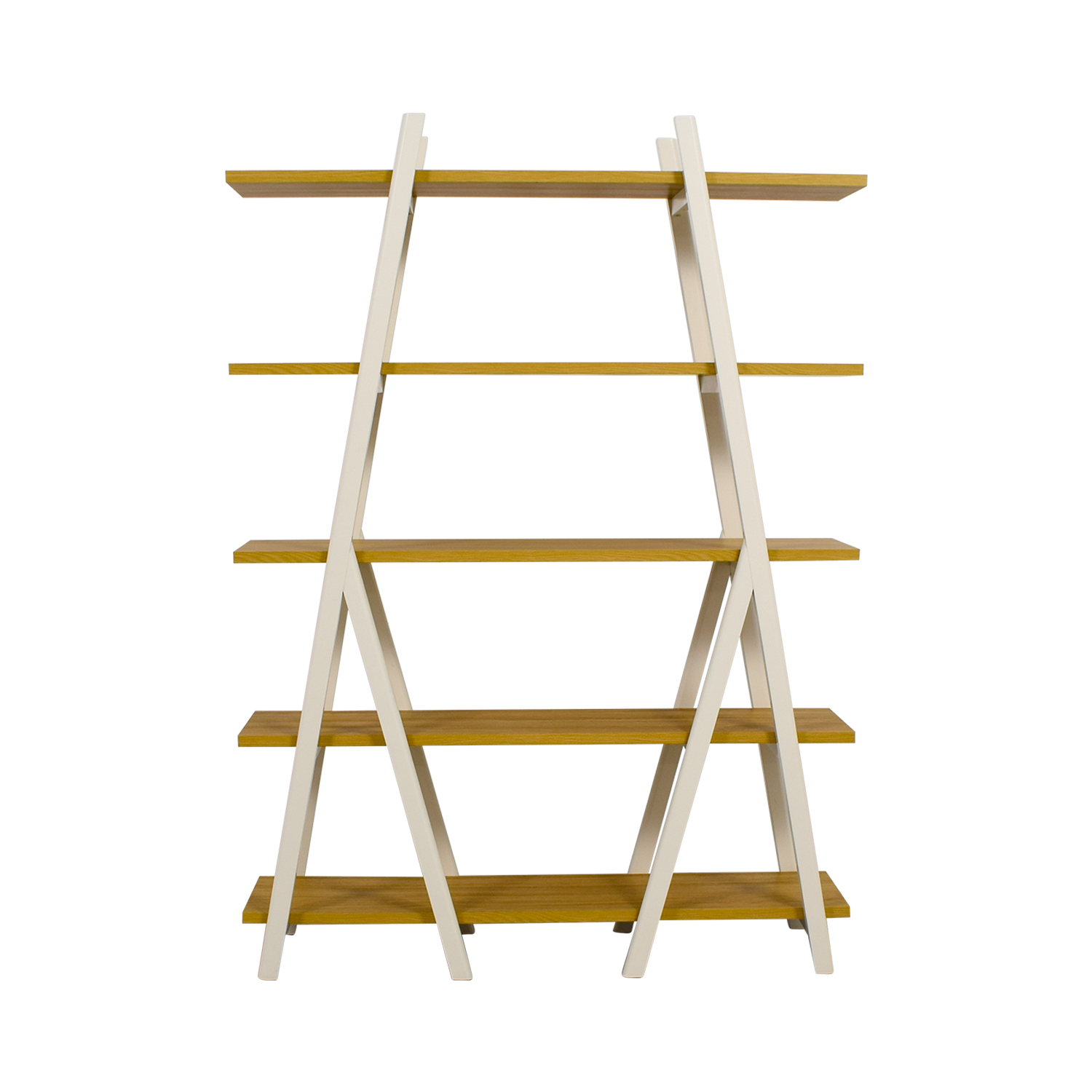 shop West Elm White Ladder Bookshelf West Elm Bookcases & Shelving