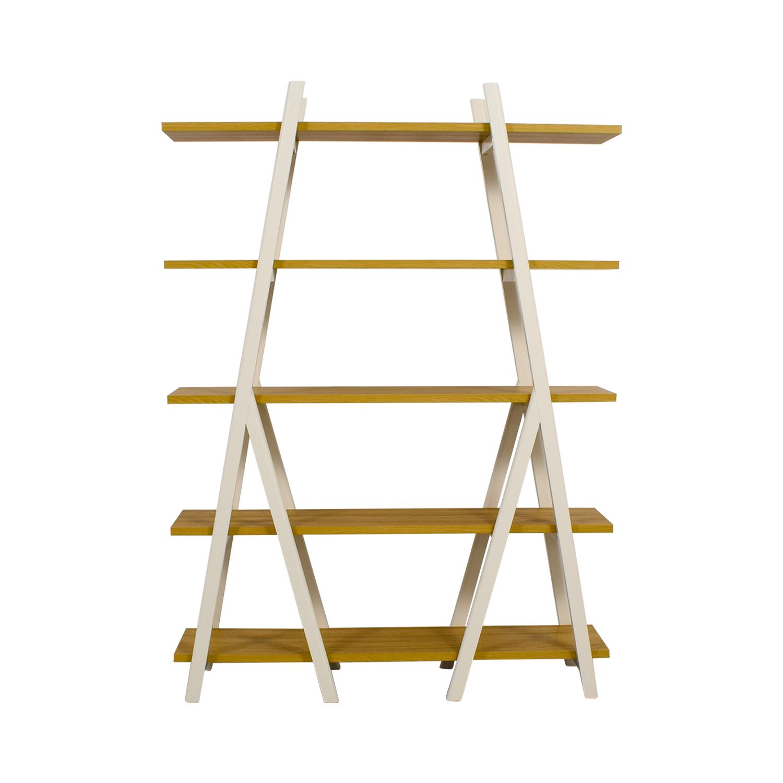 size 40 e97b4 ec060 31% OFF - West Elm West Elm White Ladder Bookshelf / Storage