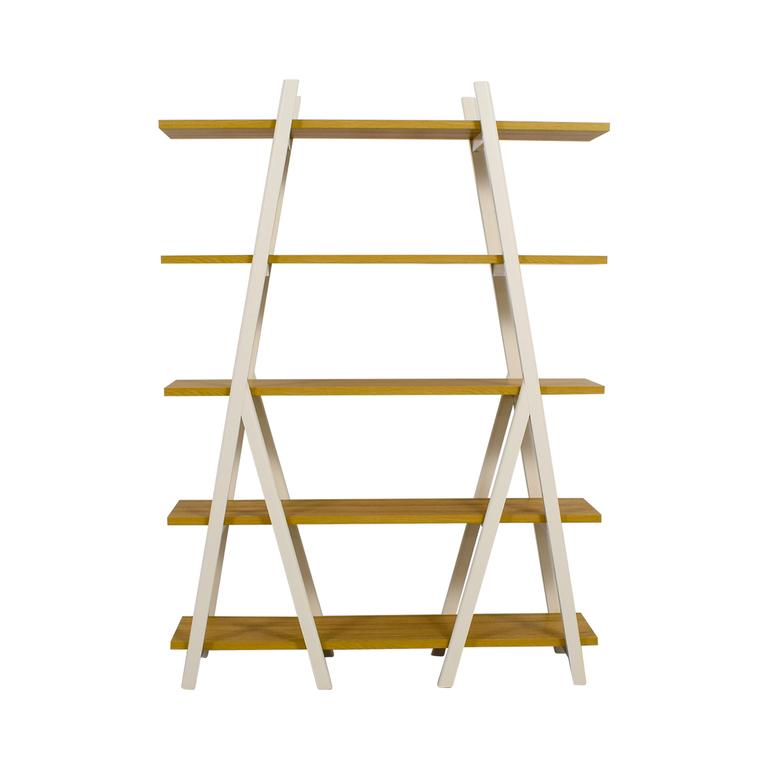 West Elm West Elm White Ladder Bookshelf nj