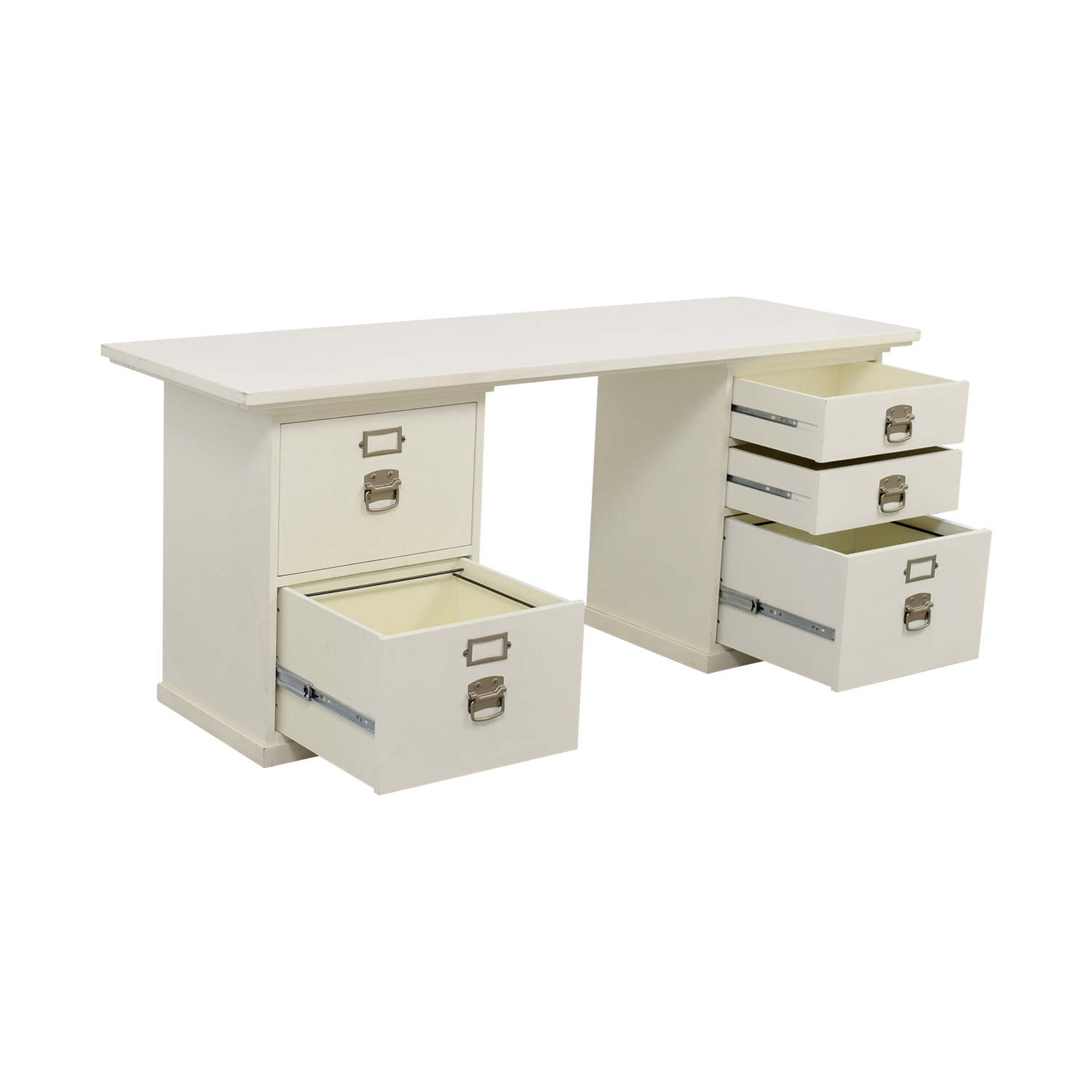 76 off pottery barn pottery barn bedford white desk tables - Pottery barn office desk ...