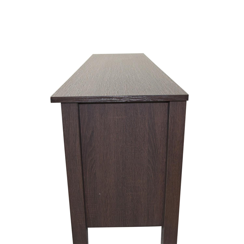 WE Furniture WE Furniture Wood TV Stand Storage Console discount