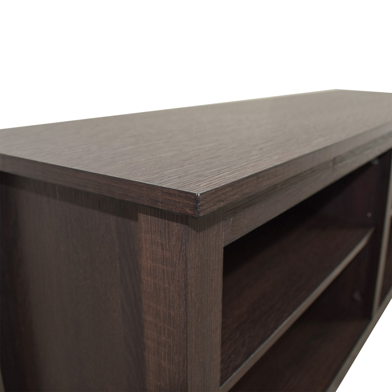 WE Furniture WE Furniture Wood TV Stand Storage Console used