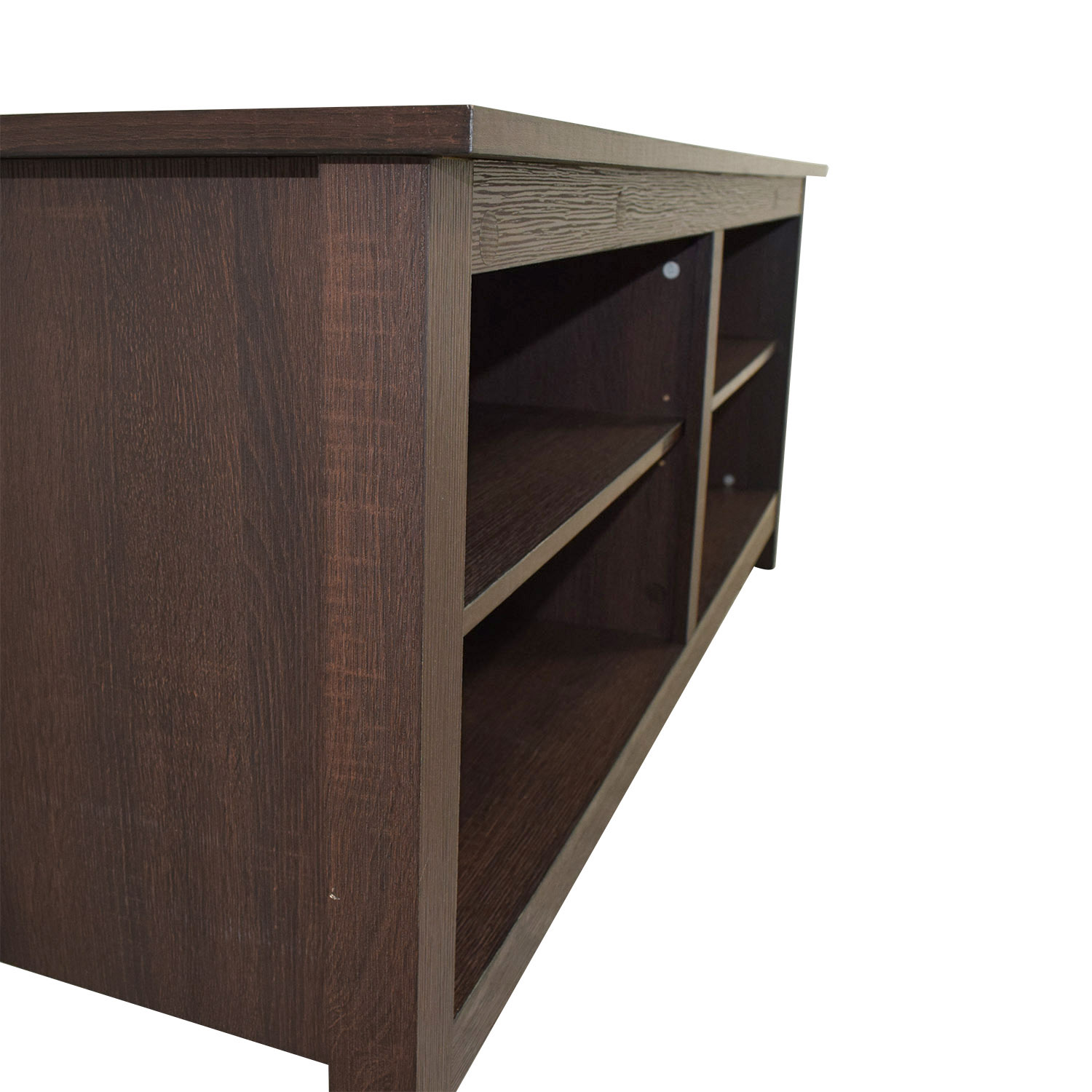 68 off we furniture we furniture wood tv stand storage for Tv console with storage
