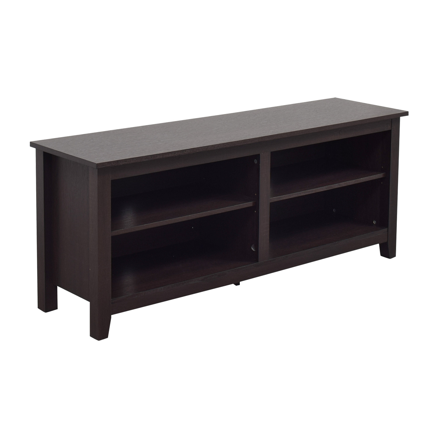 shop WE Furniture Wood TV Stand Storage Console WE Furniture Media Units