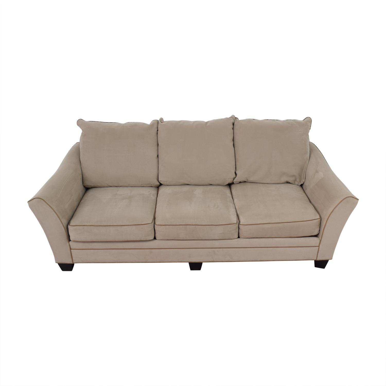 buy Raymour & Flanigan Briarwood Gray Microfiber Sofa Raymour & Flanigan Classic Sofas