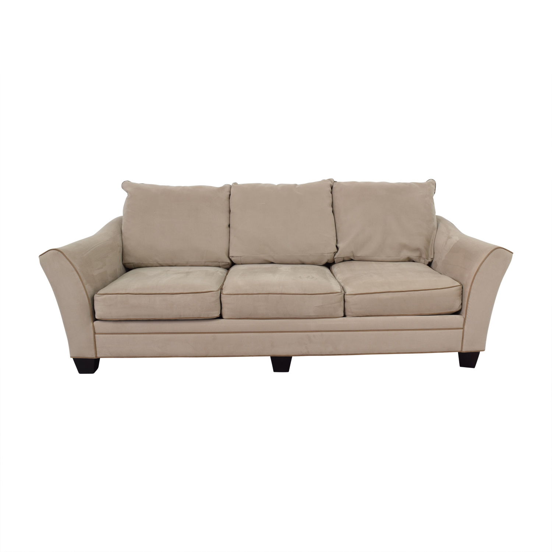 Raymour & Flanigan Raymour & Flanigan Briarwood Gray Microfiber Sofa Classic Sofas