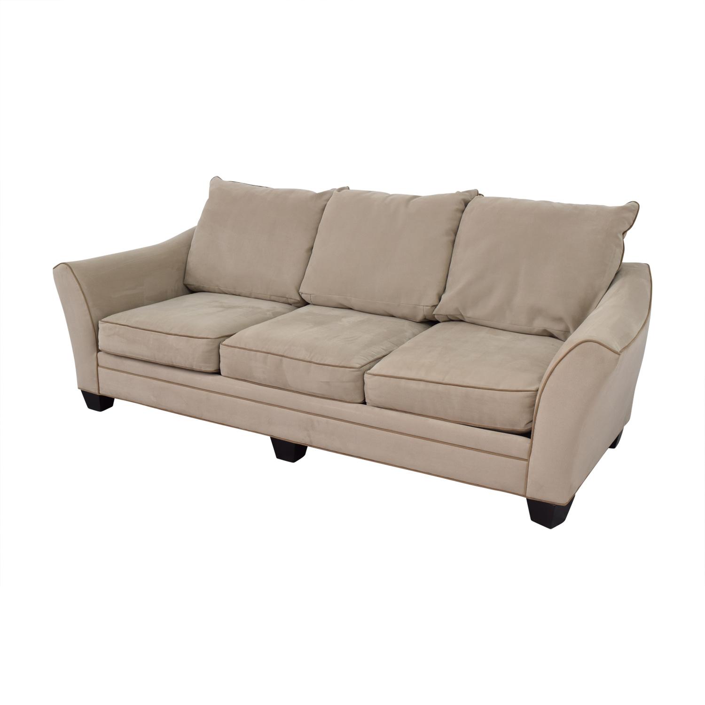 Raymour & Flanigan Raymour & Flanigan Briarwood Gray Microfiber Sofa price