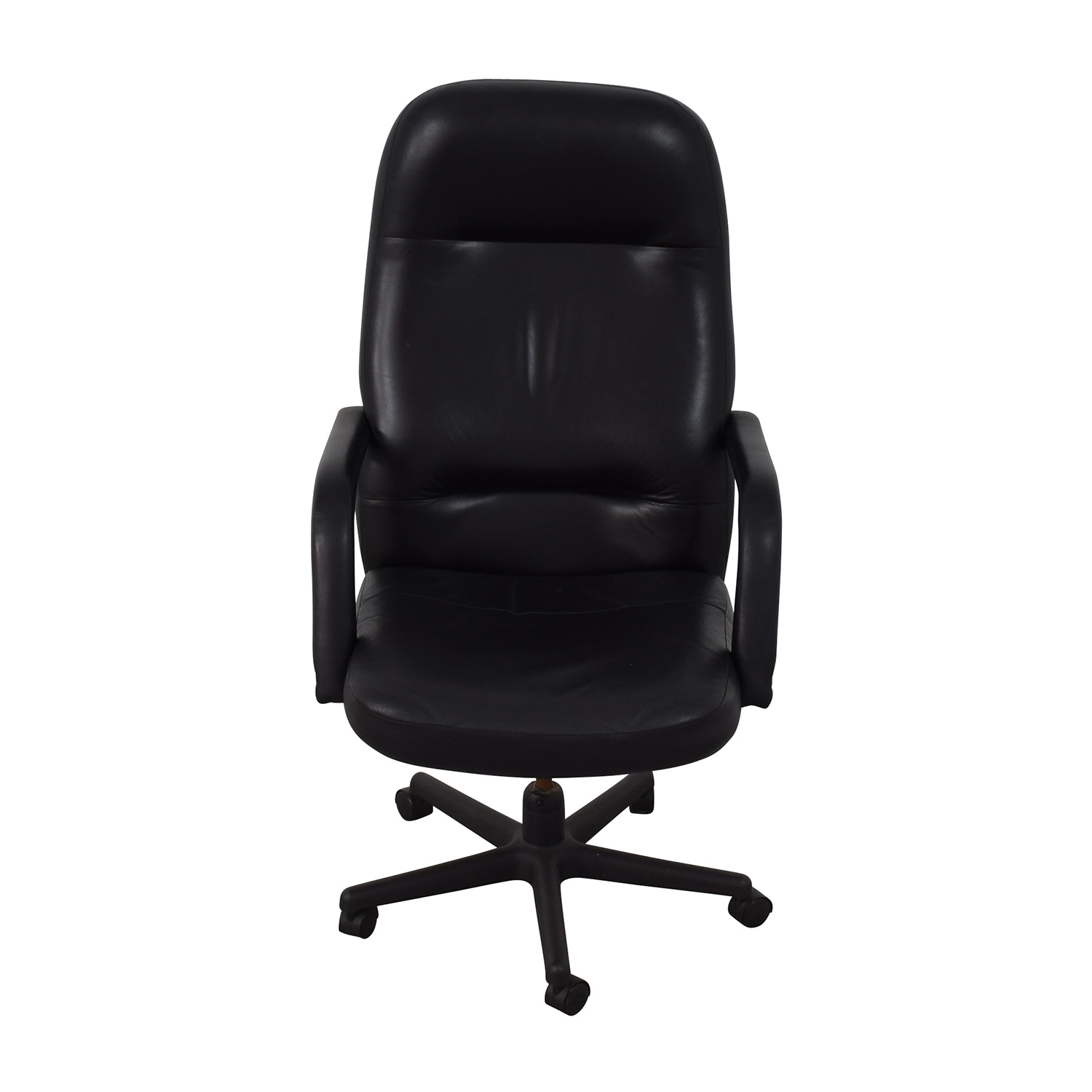 Black Leather Conference Room Chair Black