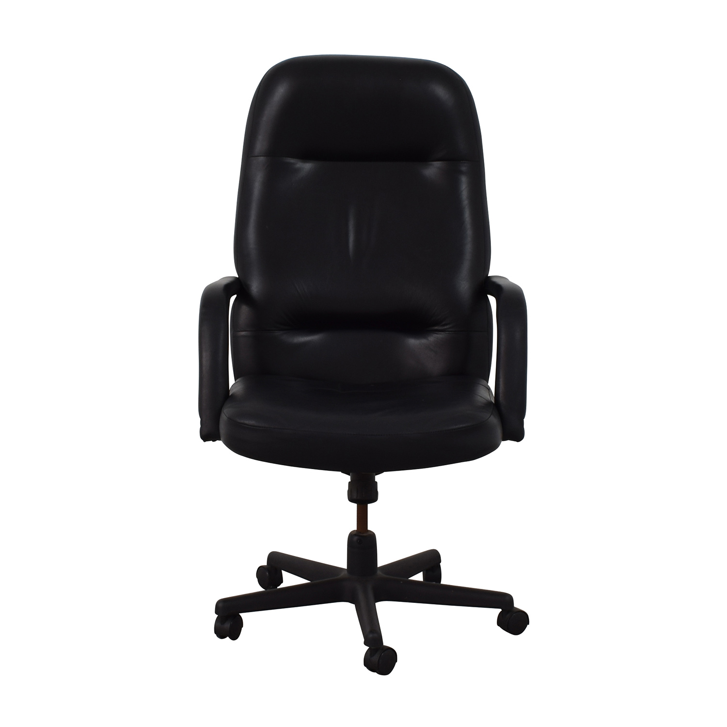 Black Leather Conference Room Chair coupon