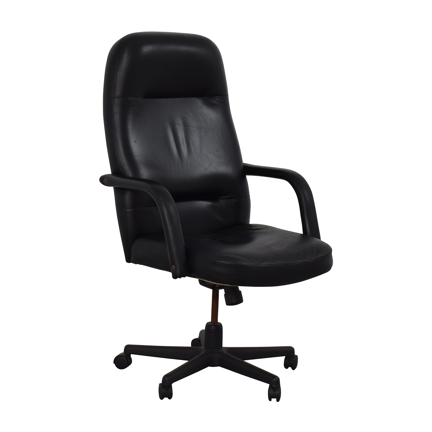 Black Leather Conference Room Chair discount