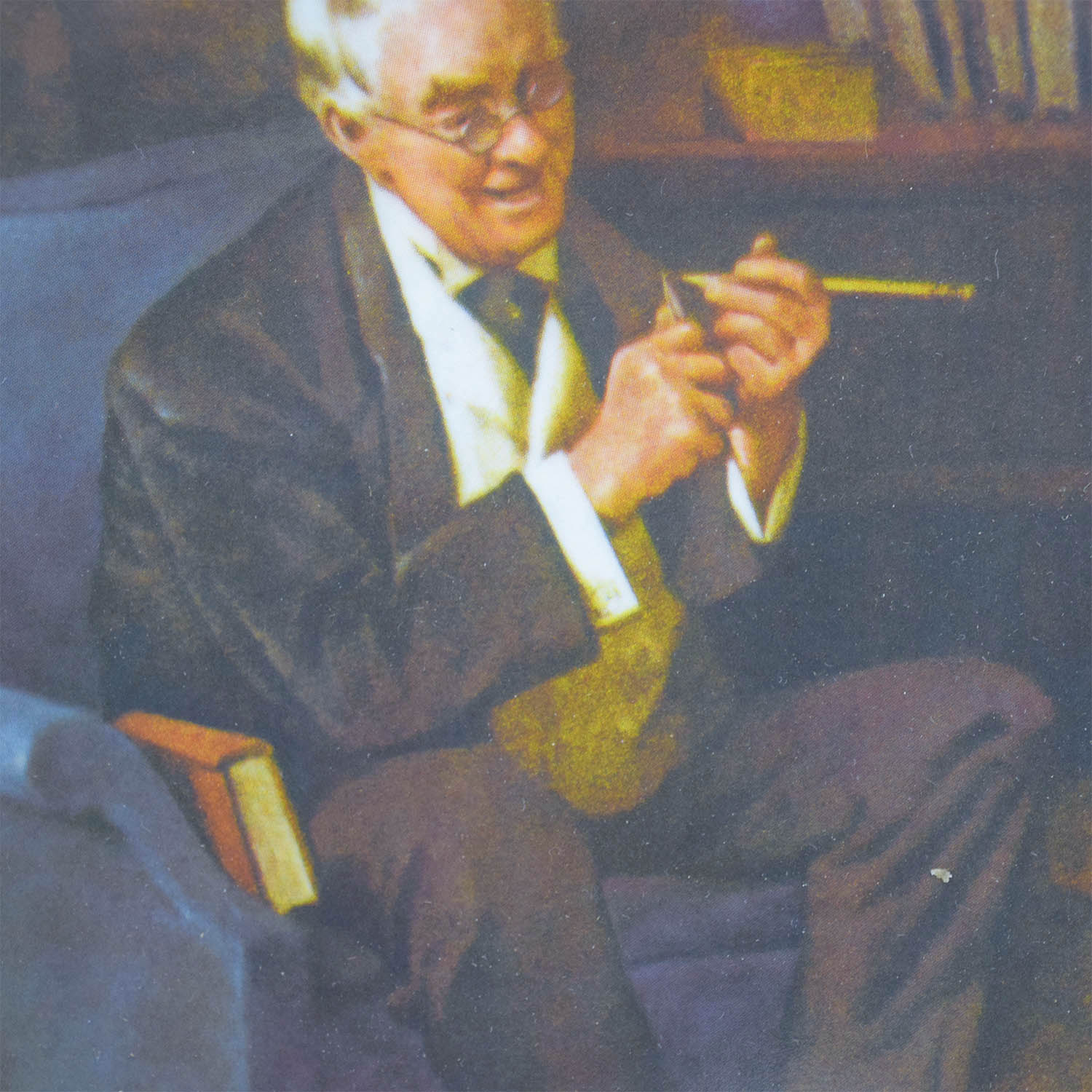 Edward Knowles Reproduction Plate Norman Rockwell The Tycoon Edward M. Knowles