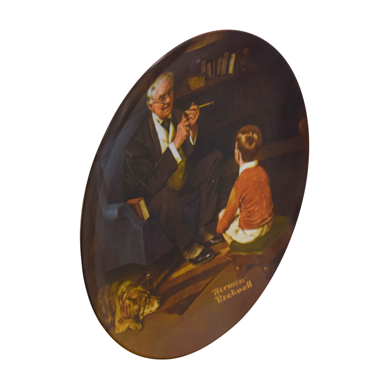Edward M. Knowles Edward Knowles Reproduction Plate Norman Rockwell The Tycoon discount