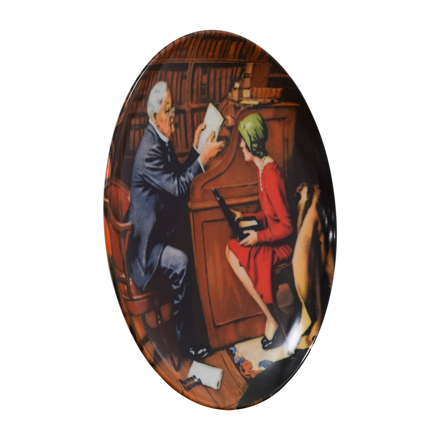 Edward M. Knowles Edward M. Knowles Norman Rockwell Plate The Professor Wall Art