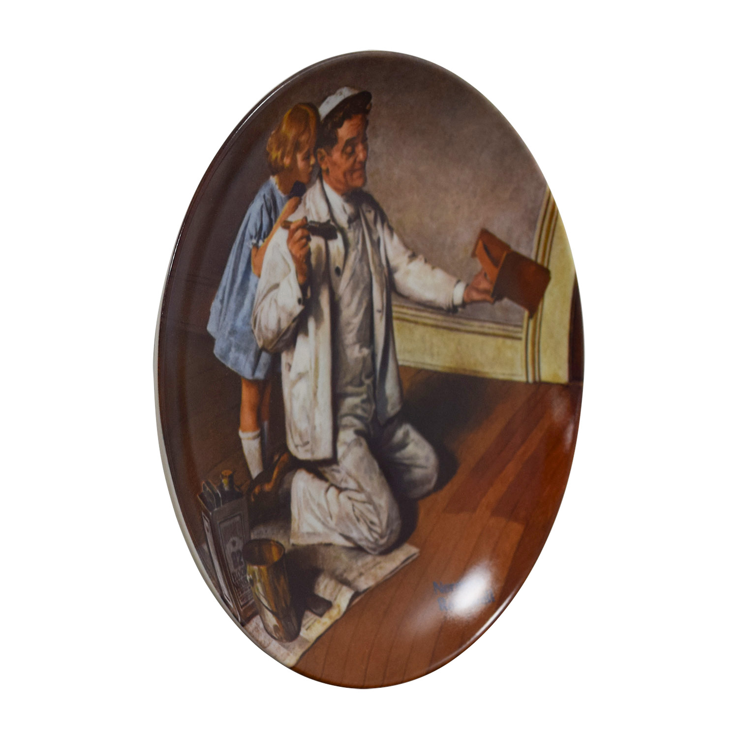 shop Edward M. Knowles Norman Rockwells The Painter Plate Edward M. Knowles