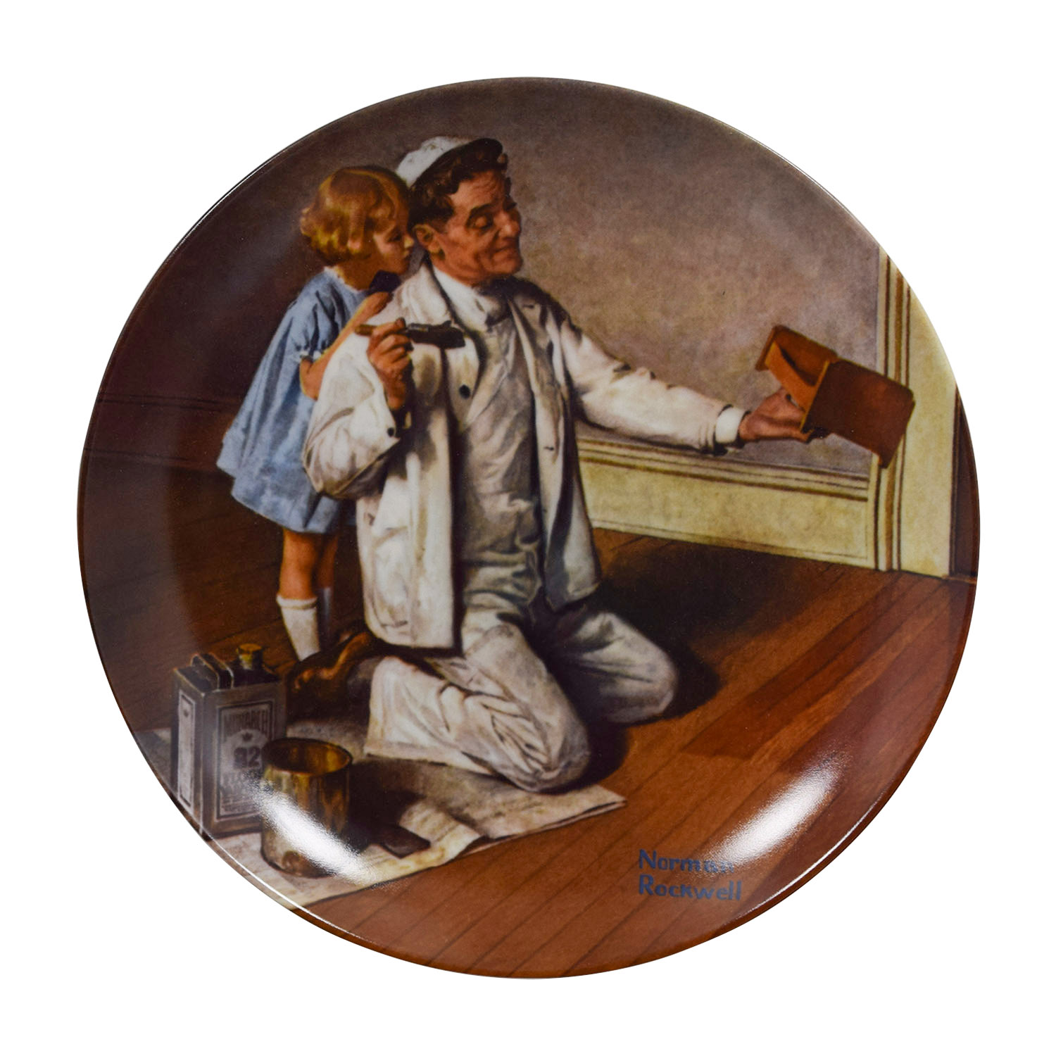 Edward M. Knowles Edward M. Knowles Norman Rockwells The Painter Plate Wall Art