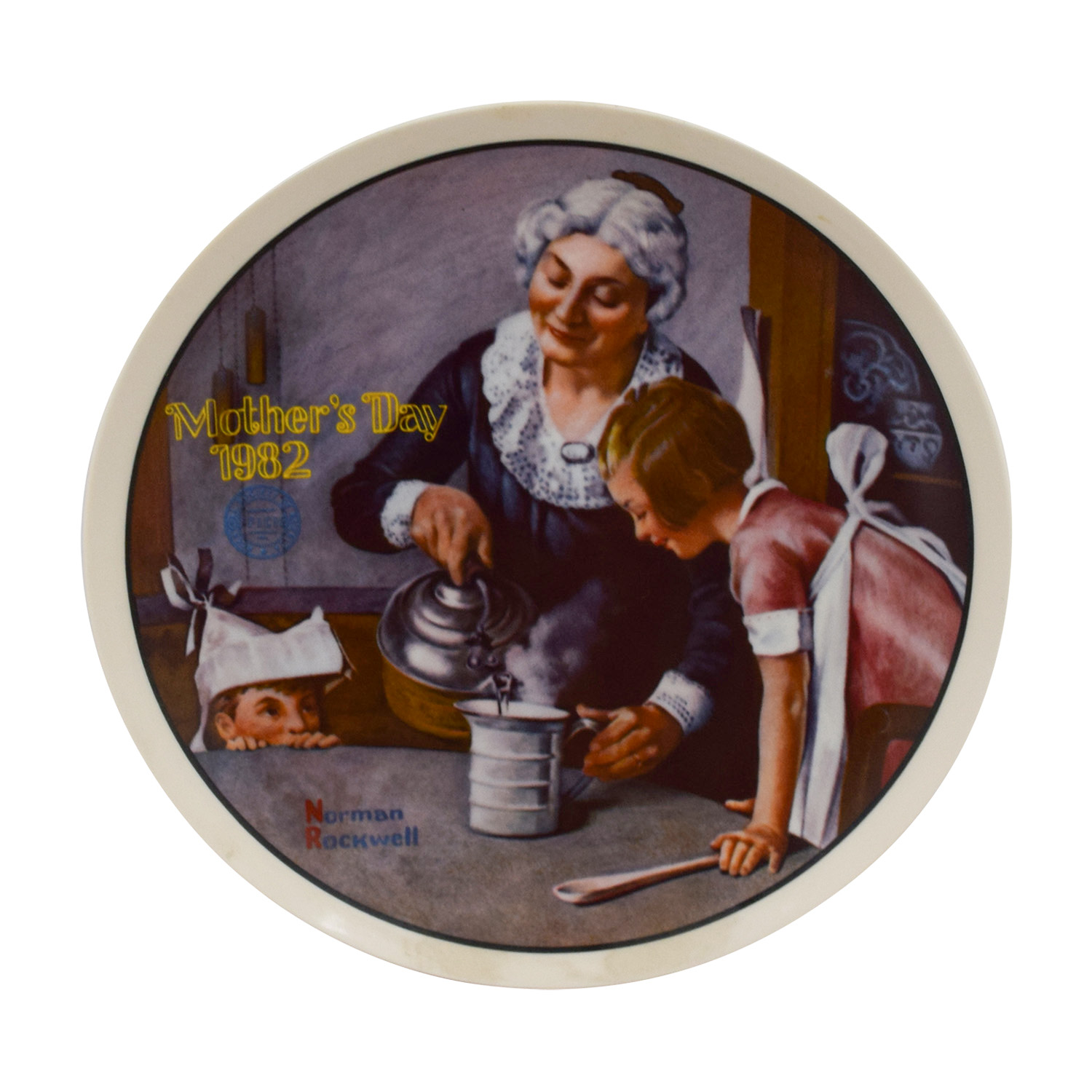 shop Edward M. Knowles Norman Rockwell Plate The Cooking Lesson Edward M. Knowles Decor
