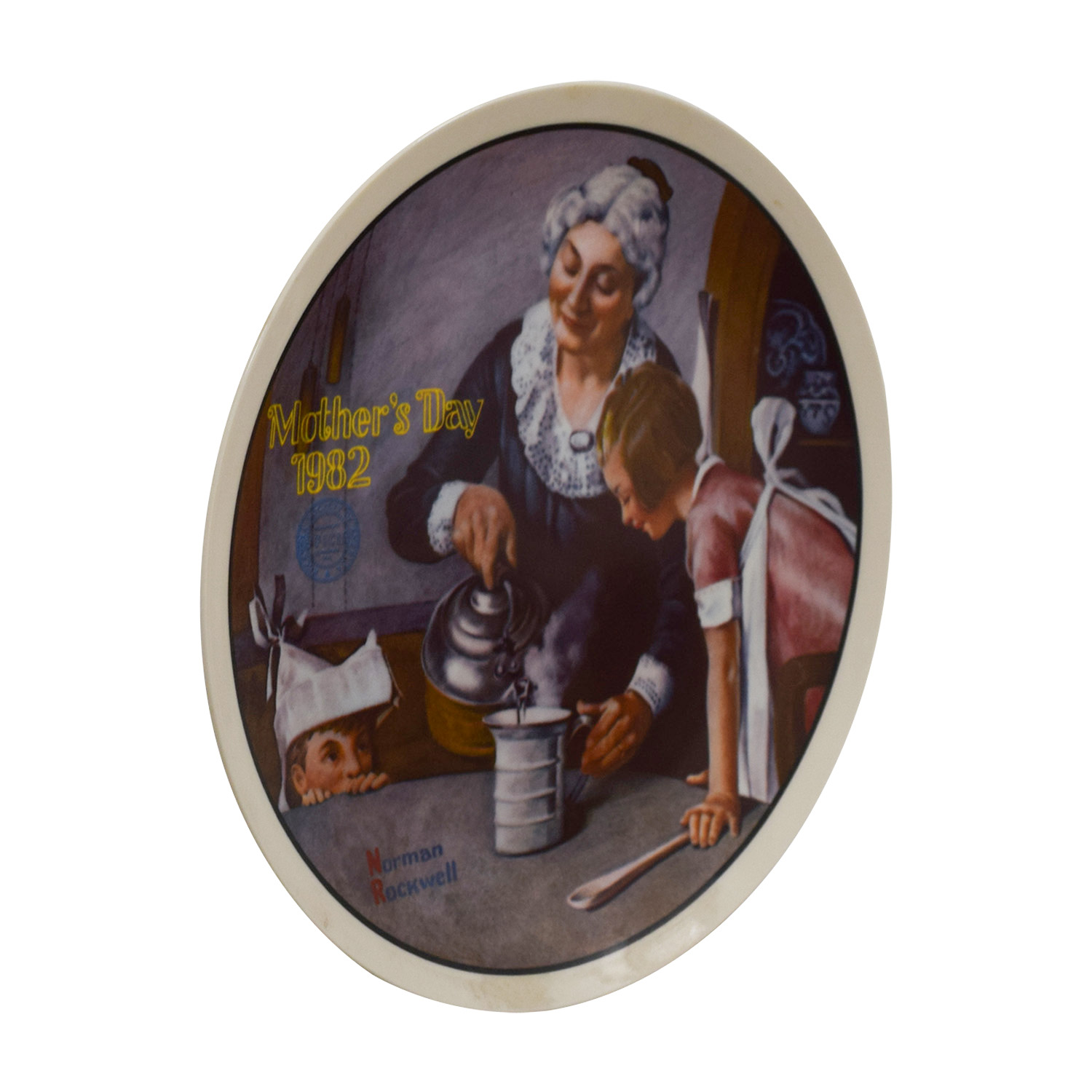 Edward M. Knowles Norman Rockwell Plate The Cooking Lesson / Wall Art